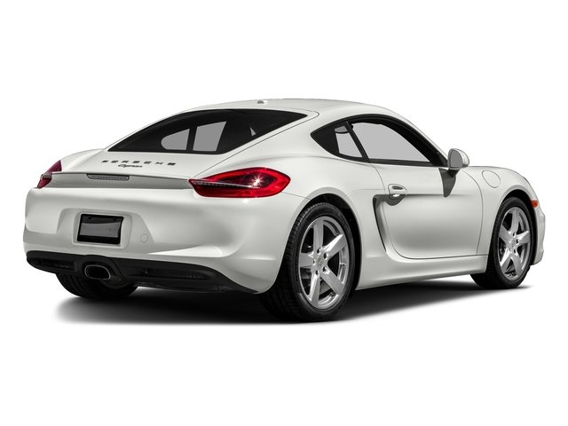 White 2016 Porsche Cayman Pictures Cayman Coupe 2D H6 photos rear view