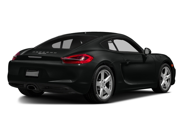Jet Black Metallic 2016 Porsche Cayman Pictures Cayman Coupe 2D H6 photos rear view