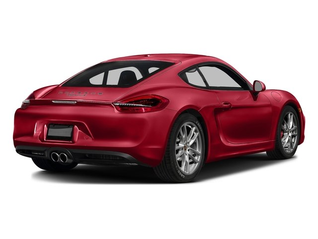 Carmine Red 2016 Porsche Cayman Pictures Cayman Coupe 2D S H6 photos rear view