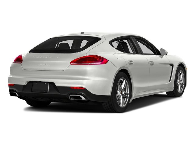 White 2016 Porsche Panamera Pictures Panamera Hatchback 4D Exclusive AWD V8 Turbo photos rear view