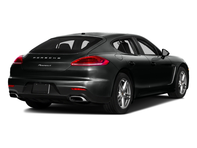 Jet Black Metallic 2016 Porsche Panamera Pictures Panamera Hatchback 4D Exclusive AWD V8 Turbo photos rear view