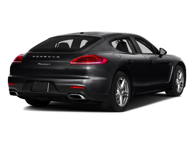 Black 2016 Porsche Panamera Pictures Panamera Hatchback 4D Exclusive AWD V8 Turbo photos rear view