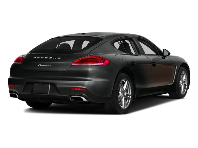 Jet Black Metallic/Chestnut Brown Metallic 2016 Porsche Panamera Pictures Panamera Hatchback 4D Exclusive AWD V8 Turbo photos rear view