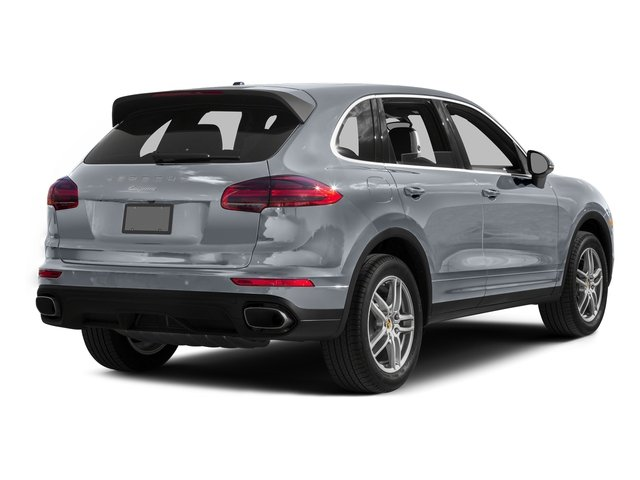 Rhodium Silver Metallic 2016 Porsche Cayenne Pictures Cayenne Utility 4D AWD V6 T-Diesel photos rear view