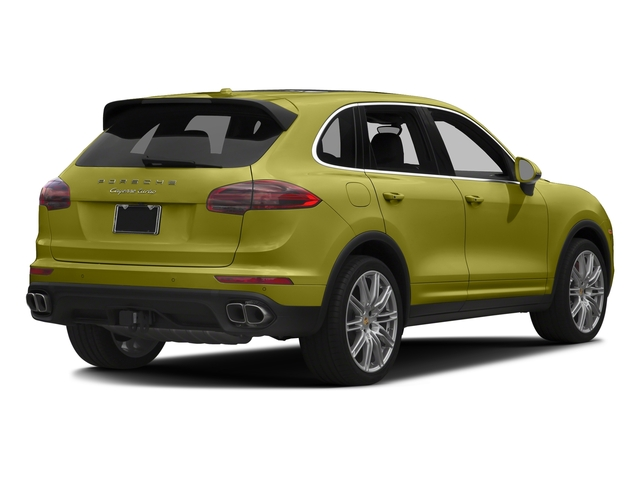 Peridot Metallic 2016 Porsche Cayenne Pictures Cayenne Utility 4D S AWD V8 Turbo photos rear view