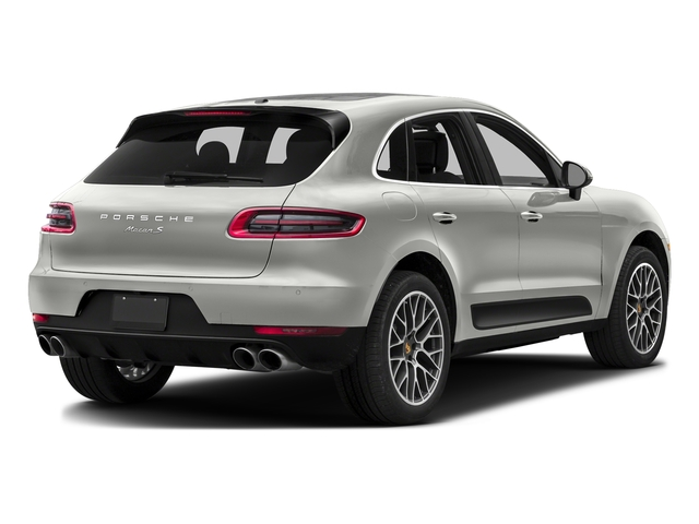 White 2016 Porsche Macan Pictures Macan Utility 4D AWD V6 Turbo photos rear view