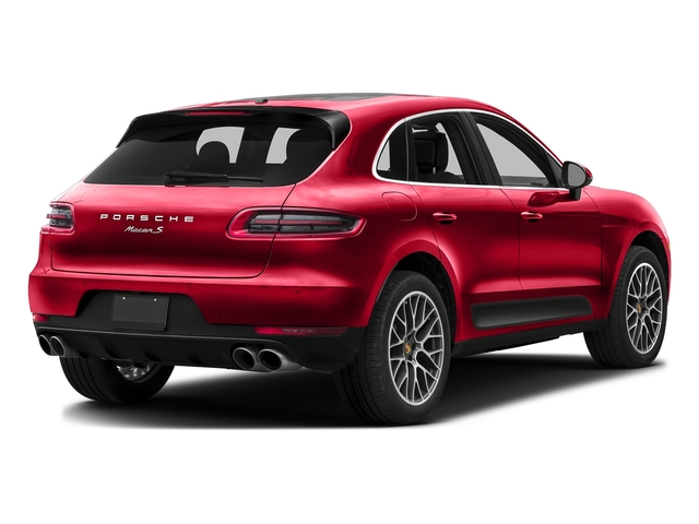 Impulse Red Metallic 2016 Porsche Macan Pictures Macan Utility 4D AWD V6 Turbo photos rear view