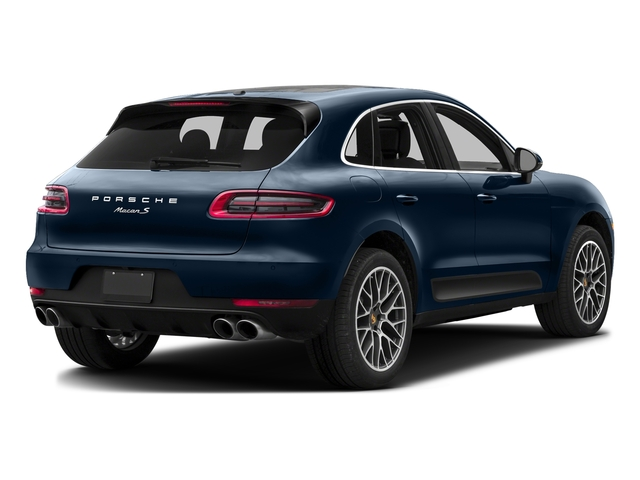 Dark Blue Metallic 2016 Porsche Macan Pictures Macan Utility 4D AWD V6 Turbo photos rear view