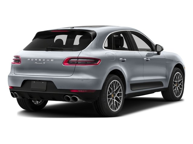 Rhodium Silver Metallic 2016 Porsche Macan Pictures Macan Utility 4D AWD V6 Turbo photos rear view