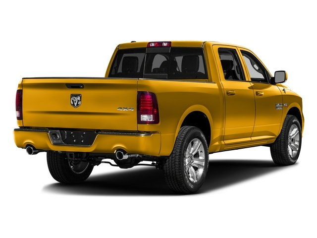 Construction Yellow 2016 Ram Truck 1500 Pictures 1500 Crew Cab Express 2WD photos rear view