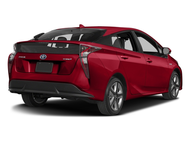 Hypersonic Red 2016 Toyota Prius Pictures Prius Liftback 5D Three Touring I4 Hybrid photos rear view