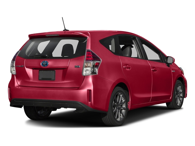Absolutely Red 2016 Toyota Prius v Pictures Prius v Liftback 5D v Five I4 Hybrid photos rear view