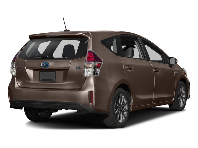 Toasted Walnut Pearl 2016 Toyota Prius v Pictures Prius v Liftback 5D v Five I4 Hybrid photos rear view