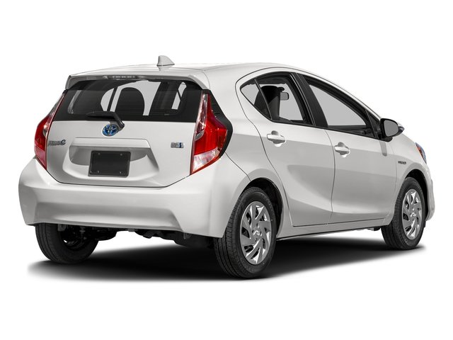 Super White 2016 Toyota Prius c Pictures Prius c Liftback 5D c I4 Hybrid photos rear view