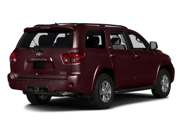 Sizzling Crimson Mica 2016 Toyota Sequoia Pictures Sequoia Utility 4D SR5 2WD V8 photos rear view