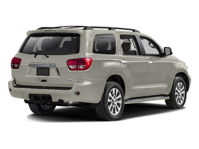 Blizzard Pearl 2016 Toyota Sequoia Pictures Sequoia Utility 4D Platinum 4WD V8 photos rear view