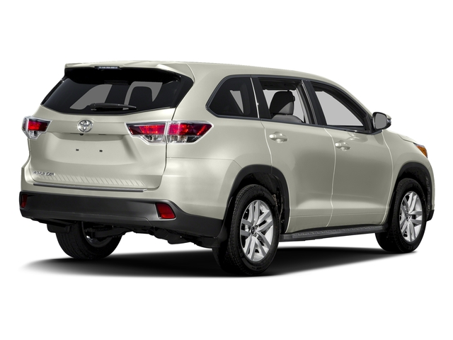 Blizzard Pearl 2016 Toyota Highlander Pictures Highlander Utility 4D LE 2WD I4 photos rear view
