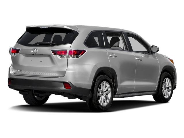 Silver Sky Metallic 2016 Toyota Highlander Pictures Highlander Utility 4D LE 2WD I4 photos rear view