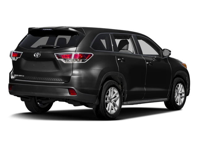 Midnight Black Metallic 2016 Toyota Highlander Pictures Highlander Utility 4D LE 2WD I4 photos rear view