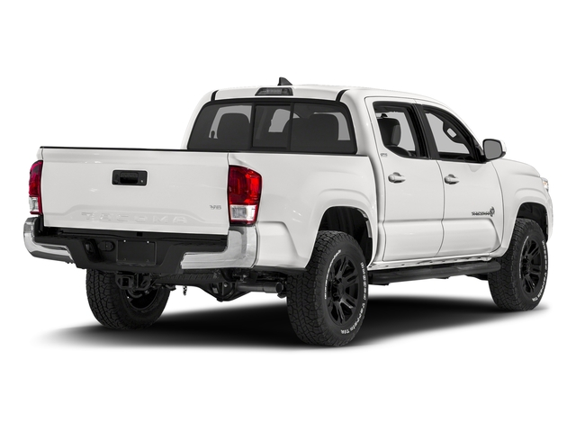 Super White 2016 Toyota Tacoma Pictures Tacoma SR5 Crew Cab 4WD V6 photos rear view