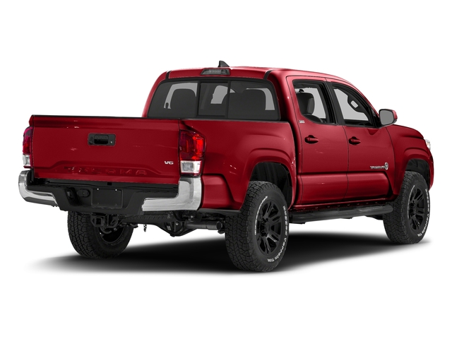 Barcelona Red Metallic 2016 Toyota Tacoma Pictures Tacoma SR5 Crew Cab 4WD V6 photos rear view
