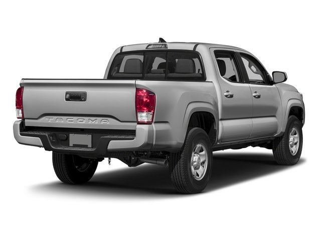 Silver Sky Metallic 2016 Toyota Tacoma Pictures Tacoma SR Crew Cab 4WD V6 photos rear view