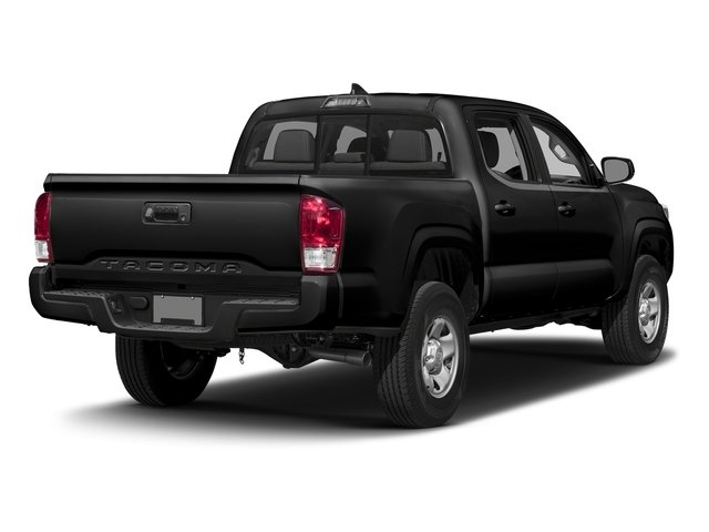 Black 2016 Toyota Tacoma Pictures Tacoma SR Crew Cab 4WD V6 photos rear view