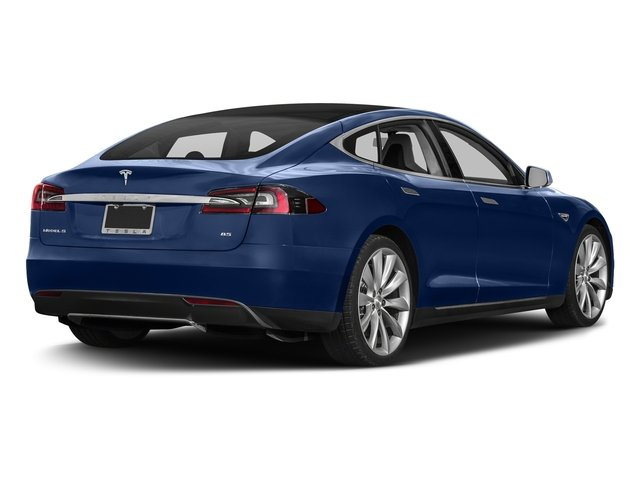 Deep Blue Metallic 2016 Tesla Motors Model S Pictures Model S Sed 4D D Performance 90 kWh AWD Elec photos rear view