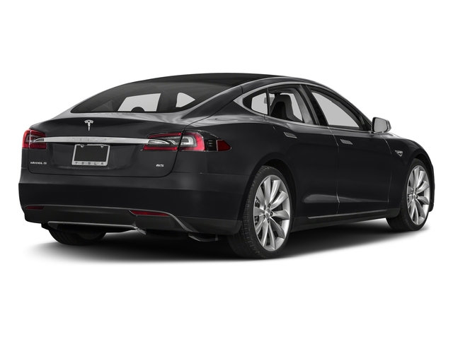 Obsidian Black Metallic 2016 Tesla Motors Model S Pictures Model S Sed 4D D Performance 90 kWh AWD Elec photos rear view