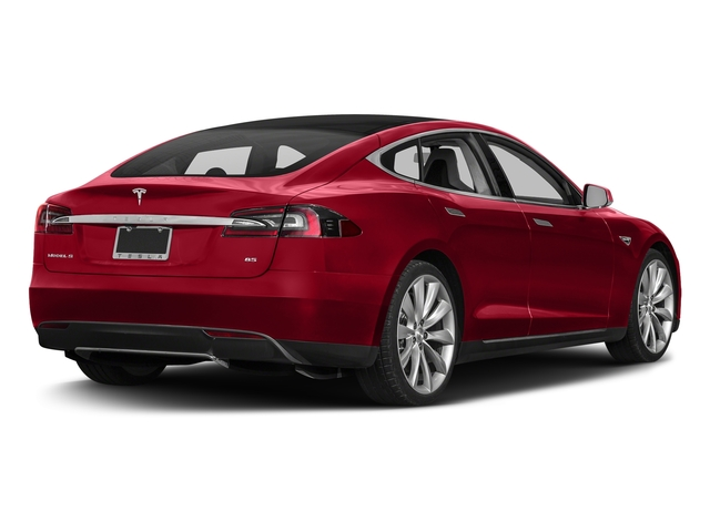 Red Multi-Coat 2016 Tesla Motors Model S Pictures Model S Sed 4D D Performance 90 kWh AWD Elec photos rear view