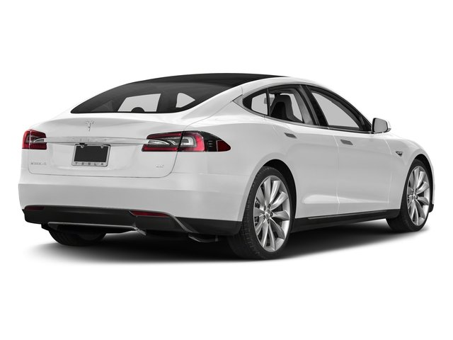 Solid White 2016 Tesla Motors Model S Pictures Model S Sed 4D D Performance 90 kWh AWD Elec photos rear view