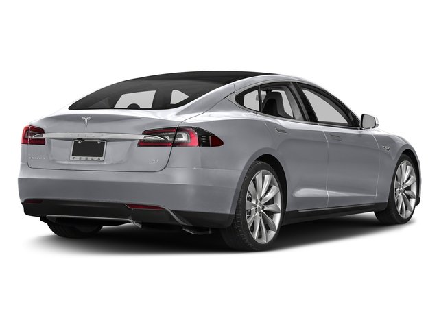 Silver Metallic 2016 Tesla Motors Model S Pictures Model S Sed 4D D Performance 90 kWh AWD Elec photos rear view