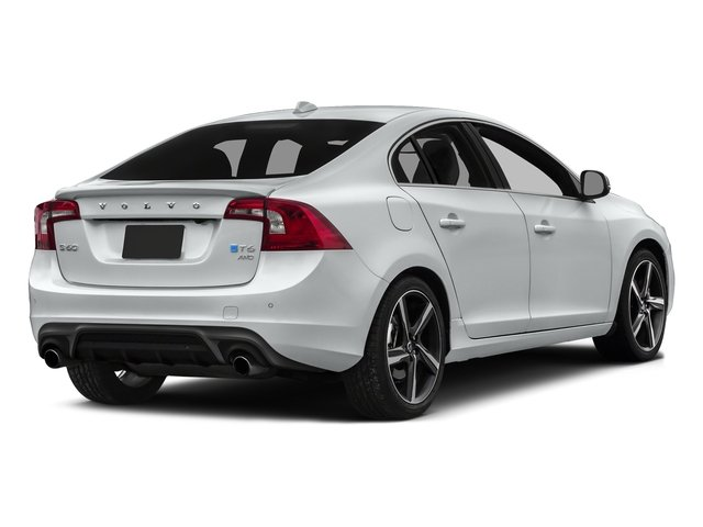 Crystal White Pearl 2016 Volvo S60 Pictures S60 Sedan 4D T6 R-Design AWD I6 Turbo photos rear view