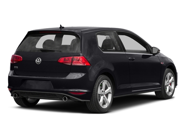 Deep Black Pearl 2016 Volkswagen Golf GTI Pictures Golf GTI Hatchback 2D SE I4 Turbo photos rear view
