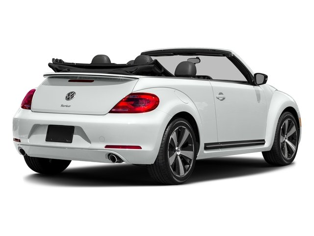 Pure White/Black Roof 2016 Volkswagen Beetle Convertible Pictures Beetle Convertible Convertible 2D SEL I4 Turbo photos rear view