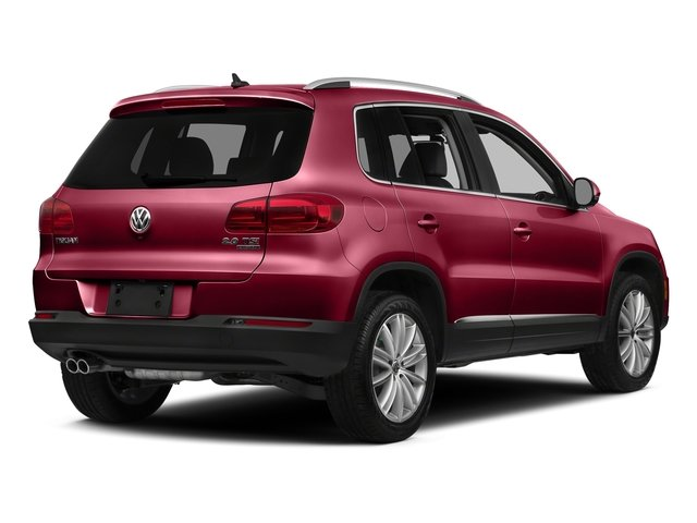 Wild Cherry Metallic 2016 Volkswagen Tiguan Pictures Tiguan Utility 4D SE 2WD I4 Turbo photos rear view