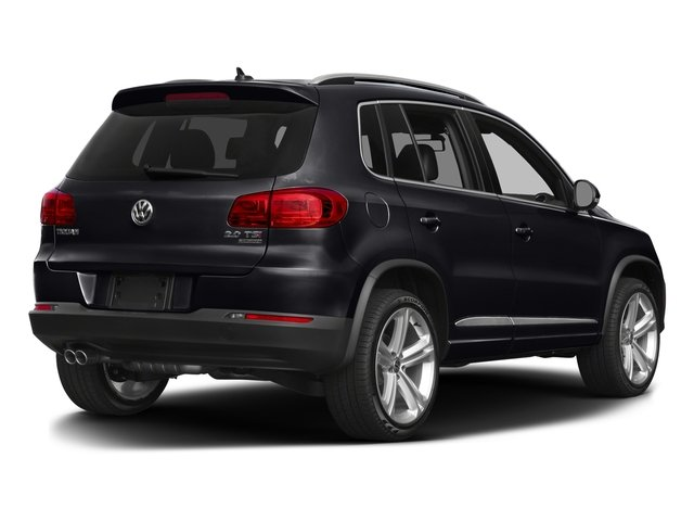 Deep Black Pearl 2016 Volkswagen Tiguan Pictures Tiguan Utility 4D R-Line 2WD I4 Turbo photos rear view
