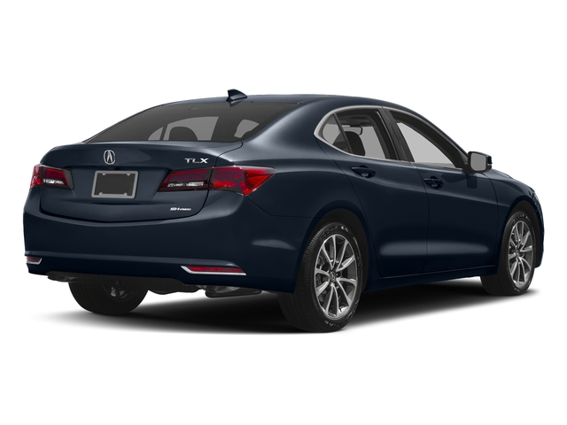 Fathom Blue Pearl 2017 Acura TLX Pictures TLX Sedan 4D Technology AWD V6 photos rear view
