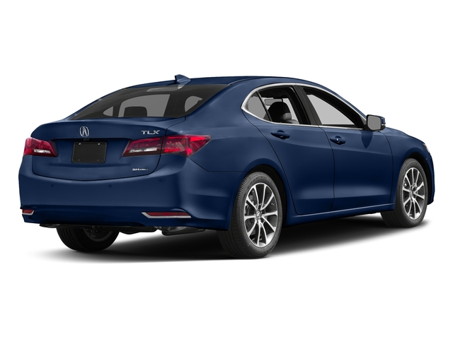 Fathom Blue Pearl 2017 Acura TLX Pictures TLX Sedan 4D Advance AWD V6 photos rear view