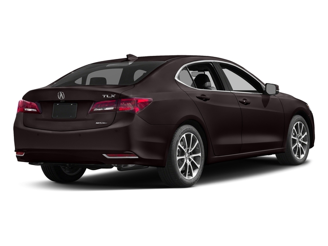 Black Copper Pearl 2017 Acura TLX Pictures TLX Sedan 4D Advance AWD V6 photos rear view