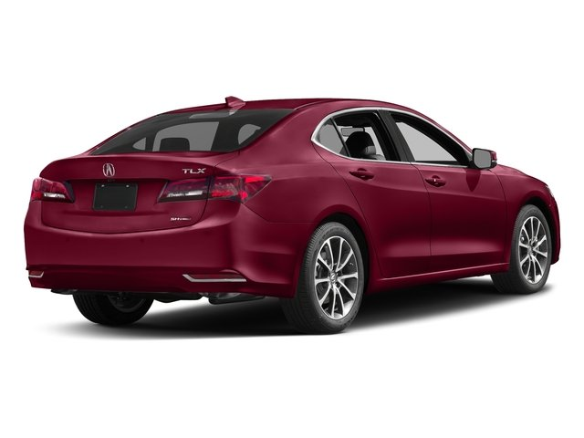 San Marino Red 2017 Acura TLX Pictures TLX Sedan 4D Advance AWD V6 photos rear view