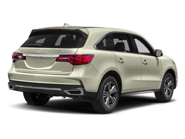 White Diamond Pearl 2017 Acura MDX Pictures MDX SH-AWD photos rear view
