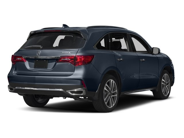 Fathom Blue Pearl 2017 Acura MDX Pictures MDX Utility 4D Advance 2WD V6 photos rear view