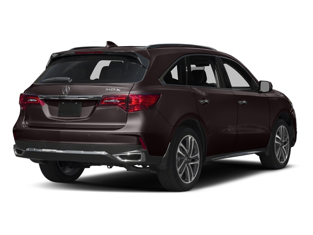 Black Copper Pearl 2017 Acura MDX Pictures MDX Utility 4D Advance 2WD V6 photos rear view