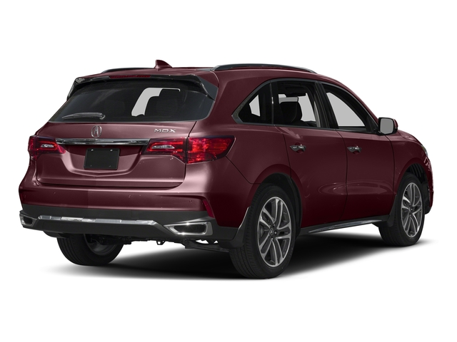 Dark Cherry Pearl 2017 Acura MDX Pictures MDX Utility 4D Advance 2WD V6 photos rear view