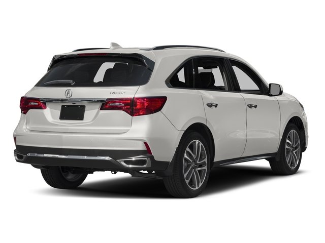White Diamond Pearl 2017 Acura MDX Pictures MDX Utility 4D Advance 2WD V6 photos rear view