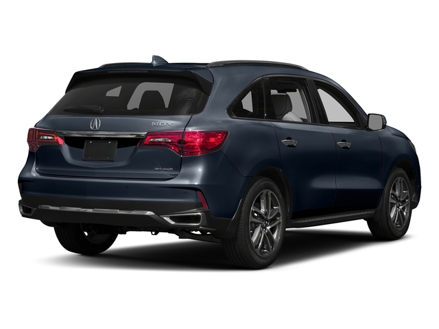 Fathom Blue Pearl 2017 Acura MDX Pictures MDX Utility 4D Advance AWD V6 photos rear view