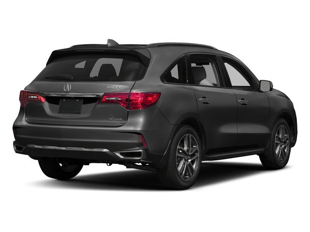 Modern Steel Metallic 2017 Acura MDX Pictures MDX Utility 4D Advance AWD V6 photos rear view
