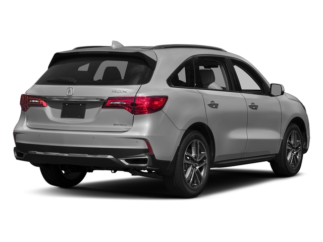 Lunar Silver Metallic 2017 Acura MDX Pictures MDX Utility 4D Advance AWD V6 photos rear view