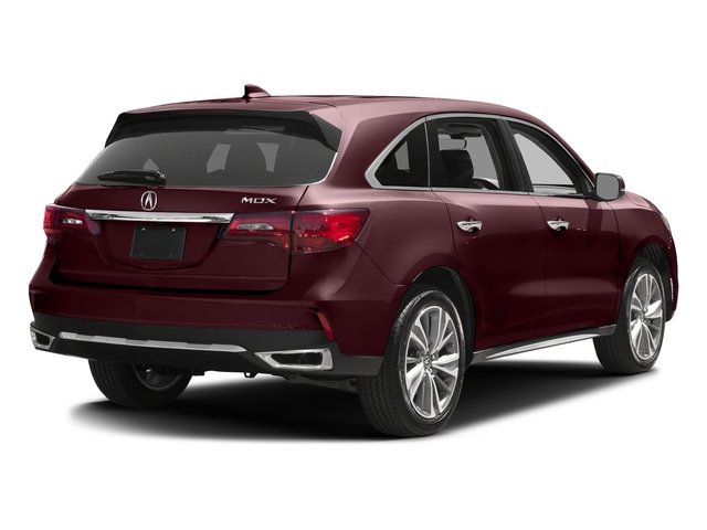 Dark Cherry Pearl 2017 Acura MDX Pictures MDX FWD w/Technology Pkg photos rear view
